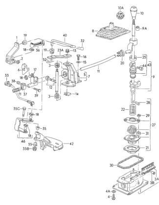 Gear Shift Relay Lever Rod 5 Speed Gearshift Shaft VW 191711173B